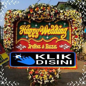 Permalink to: Bunga Papan Happy Wedding
